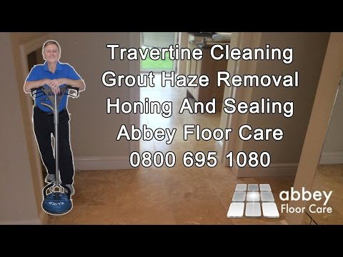 Removing Ugly Grout Haze From Travertine Tiles Abbey
