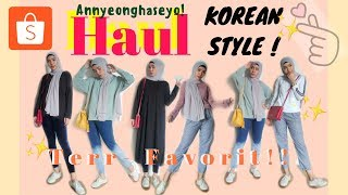 SHOPEE HAUL KoreanStyle Hijab Outfit + Try On| Achtasya Iman