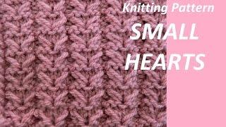 Knitting Pattern Small Hearts