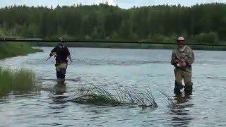 Зимняя рыбалка на реке ижма