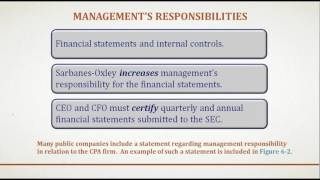 Auditing and Assurance Services Chapter 6 (Audit Responsibilities and Objectives)