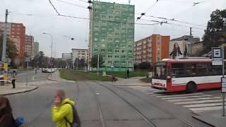 preview picture of video 'Brno Trams Route 1 Ečerova to Řečkovice'