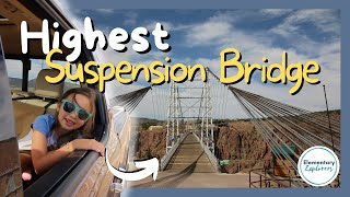 Driving Across the Highest Suspension Bridge in the USA - Royal Gorge Bridge, Canon City, CO