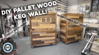 DIY Pallet Wood Beer Wall!