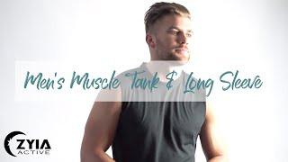 ZYIA Active - Mens Muscle Tank And Long Sleeve | Mens Activewear