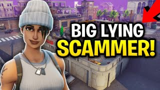 Dumbest Liar Ever Scams Himself! (Scammer Get Scammed) Fortnite Save The World