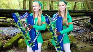 LOST WOODS (Legend of ZELDA) Harp Twins - Camille and Kennerly