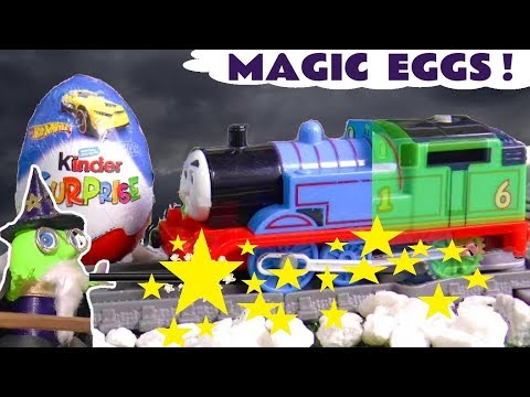 Funny Funlings Wizard Funling's Magic Kinder Surprise Eggs with Thomas & Friends Trains TT4U