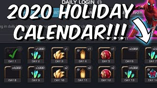 2020 HOLIDAY CALENDAR LIVE REVIEW! - DOES IT LIVE UPTO THE HYPE?! - Marvel Contest of Champions