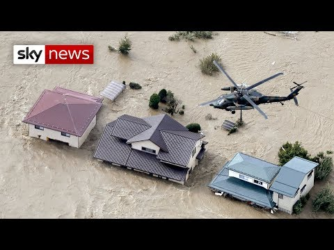 Typhoon Hagibis: Elderly woman falls to her death from rescue helicopter