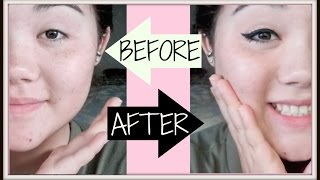 CUTE HIGHSCHOOL MAKEUP TUTORIAL (Flawless Skin and Winged Eyeliner!)
