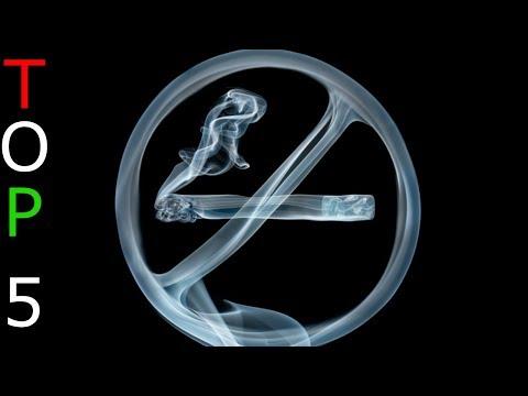 Leszokni a dohányzásról, és megjelent az ajkán