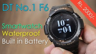 DT No. 1 F6 Smartwatch, sports watch, tough, waterproof, re-chargeable battery