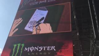 Bring Me the Horizon - Opening Security Video and Happy Song Live - Rock on the Range 2016