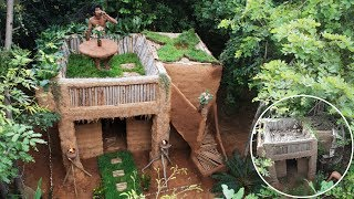 Renovate an old mud house to beautiful mud house again in the deep woods by ancient methods