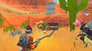 """""""Search between an Oasis, Rock Archway, and Dinosaurs"""" Location (Fortnite Week 2)"""