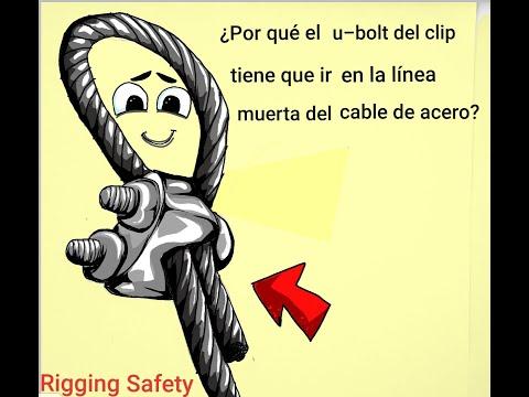 ¿Por que el u-bolt del clip tiene que ir en la linea muerta del cable de acero?