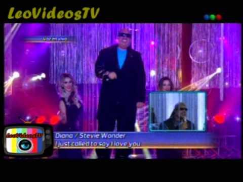 Diana Amarilla es Stevie Wonder en Tu cara me suena 3 #GH2015 #GranHermano