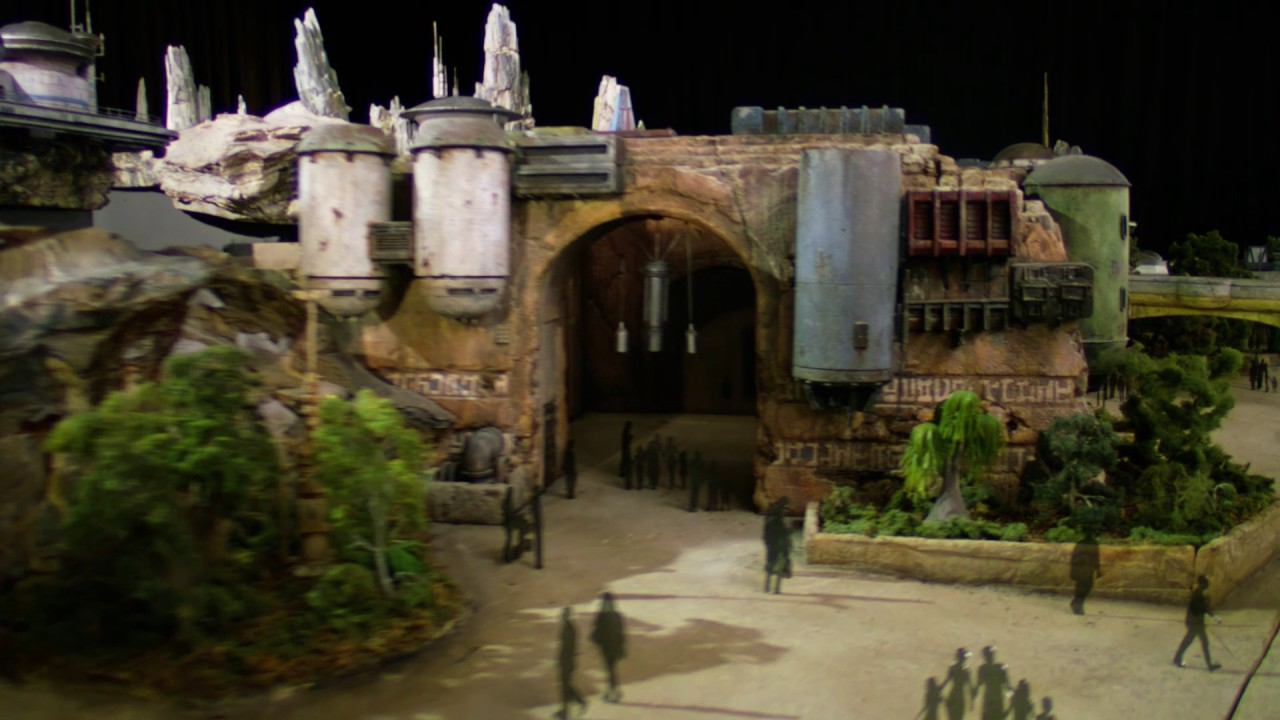 Star Wars Galaxy's Edge model fly-through