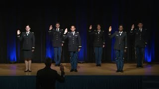 Army ROTC Cadet Commissioning Ceremony Hosted By Secretary of the Army Ryan McCarthy