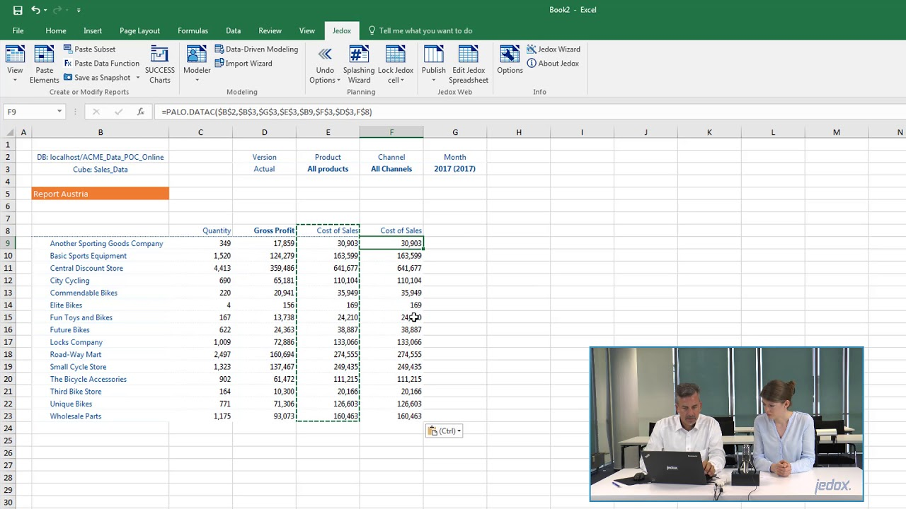 Session 3: Reporting in Excel - Lesson 2 - Tailored Views