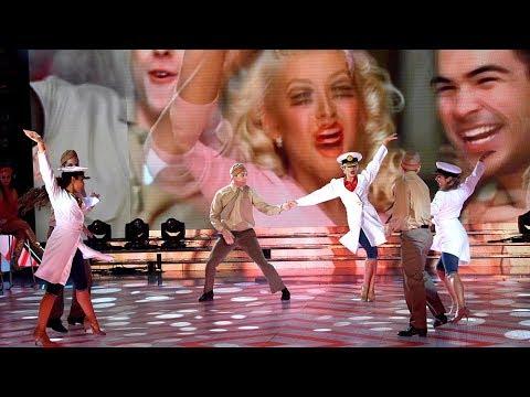 Charlotte Caniggia y Agustín Reyero bailaron un #VideoClip de Christina Aguilera