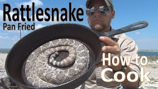 Pan Frying Rattlesnake