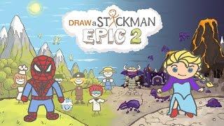 DRAW A STICKMAN: EPIC 2 Gameplay - Marvel Frozen Super Heroes Spiderman vs Elsa - True Love Ending