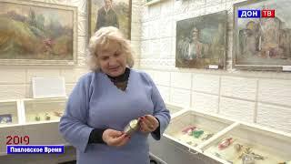 Выставка новогодних игрушек в музее. г. Павловск Воронежской обл.
