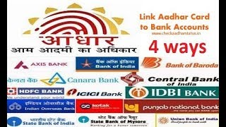 Linking Aadhaar with your bank account: Here are four ways you can do it