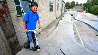 HE DESTROYED ME! *PUMP TRACK SCOTER RACE*