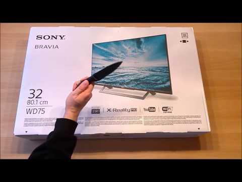 Sony Bravia KLD 32 WD 755 BAEP - Unboxing und Einrichtung