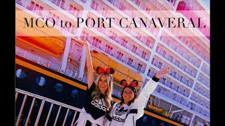 DISNEY CRUISE:  HOW TO GET FROM ORLANDO AIRPORT TO PORT CANAVERAL!