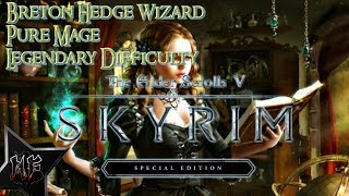 Skyrim Special Edition - Skimpy Legendary Difficulty | Breton Pure Mage | XBox One X