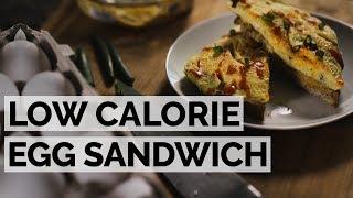 Scrambled Egg Sandwich | 5 Minute Low Calorie Breakfast