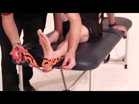 Rocktape application for ankle support