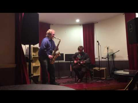 """Free Improvisation with saxophonist Dan O'Brien, this duo is know as """"Graffiti"""""""