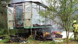 Požar čebelnjaka na Gibini