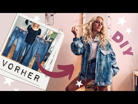 Ich nähe mir eine Retro Jeansjacke aus 3 (!!) alten Jeans! 👖✂️ THRIFT FLIP #12