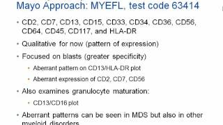 """Myeloid Blast And Maturation Assessment By Flow Cytometry """"mds Flow"""" Hot Topic"""