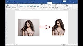 Super Easy Remove Picture Background in MS Word
