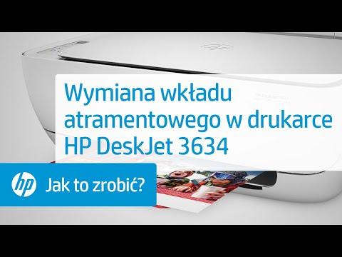 Wymiana wkładu atramentowego w drukarce HP DeskJet 3634