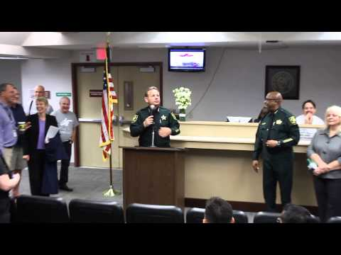 Sheriff Israel Speaks Broward Courthouse 1/6/15