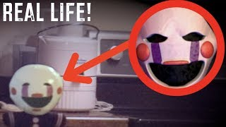 I FOUND PUPPET INSIDE MY HOUSE! *Real Life Five Nights At Freddys!*
