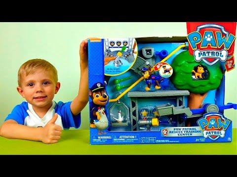 Щенячий Патруль и тренировочная база - Обзоры игрушек. Paw Patrol Rescue Training Center Playset видео