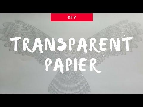 DIY Tracing Paper | Transparentpapier SELBER machen