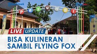Menengok Keistimewaan Pasar Payungi Pelangi Metro, Pengunjung Bisa Kulineran hingga Ber-flying Fox