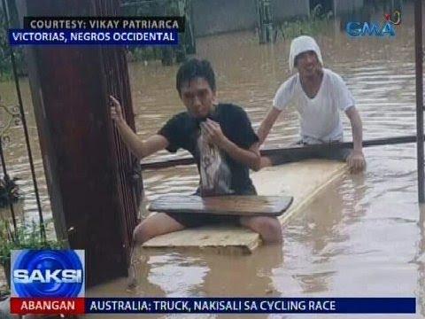 Saksi: Tail-end ng cold front, nagpaulan at nagpabaha sa Kabikulan at Western Visayas