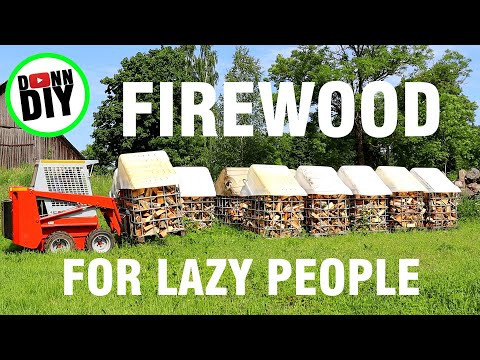 Man significantly improves his firewood processing