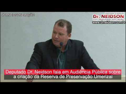 VÍDEO: DEPUTADO DR. NEIDSON FALA EM AUDIÊNCIA PÚBLICA SOBRE A CRIAÇÃO DE RESERVA DE PRESERVAÇÃO